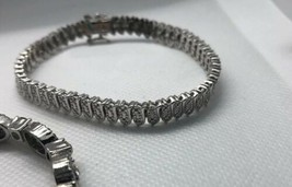 Lot of 3 Costume Jewelry Tennis Bracelet Looks Like Whiting & Davis But ... - $24.75