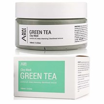 ANAIRUI Green Tea Facial Mud Mask for all Skin types- Deep Pore Cleansing & Blac