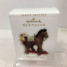2006 Brown Pony for Christmas #9 Hallmark Christmas Tree Ornament MIB  T... - $28.22