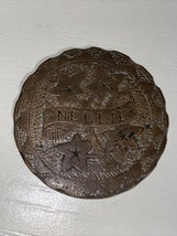 Love Token Great Britain Penny Engraved  Nellie - $23.36