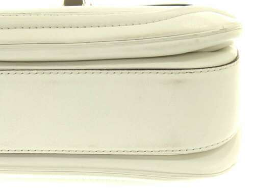 GUCCI Handbag Leather White New Bamboo Shoulder Bag 254884 Authentic 5348350