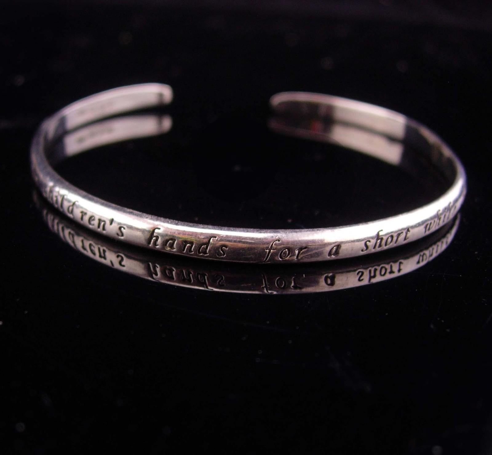 Vintage Mother bracelet / sterling bangle / Mother of the Bride Gift / mother da
