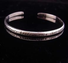 Vintage Mother bracelet / sterling bangle / Mother of the Bride Gift / m... - $75.00