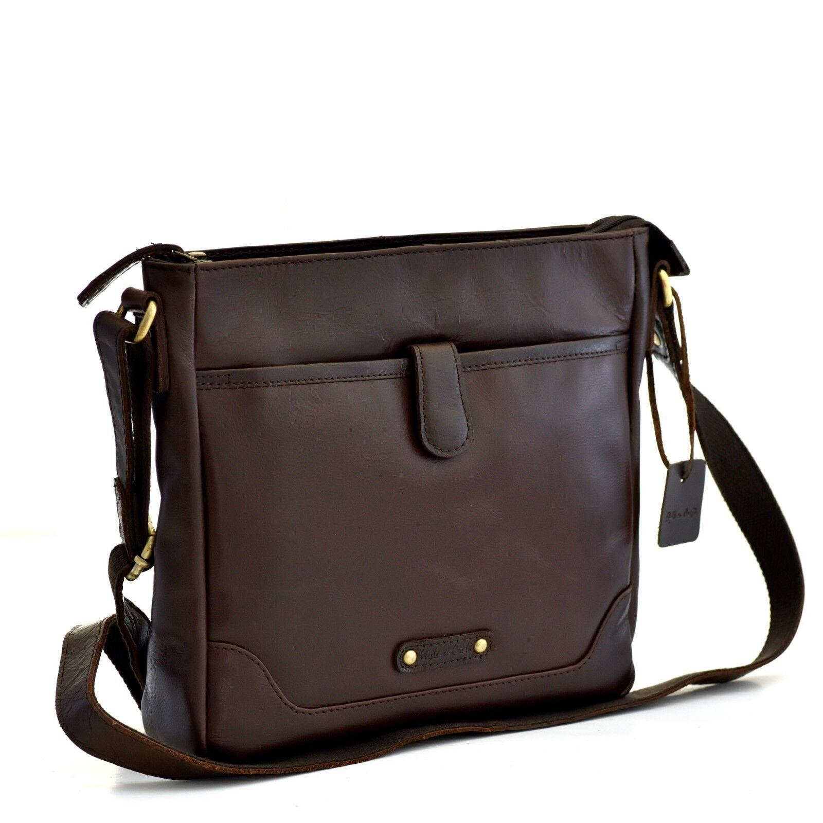 Unisexe Sac Messenger Small Cross Body épaule Nylon Bag Black