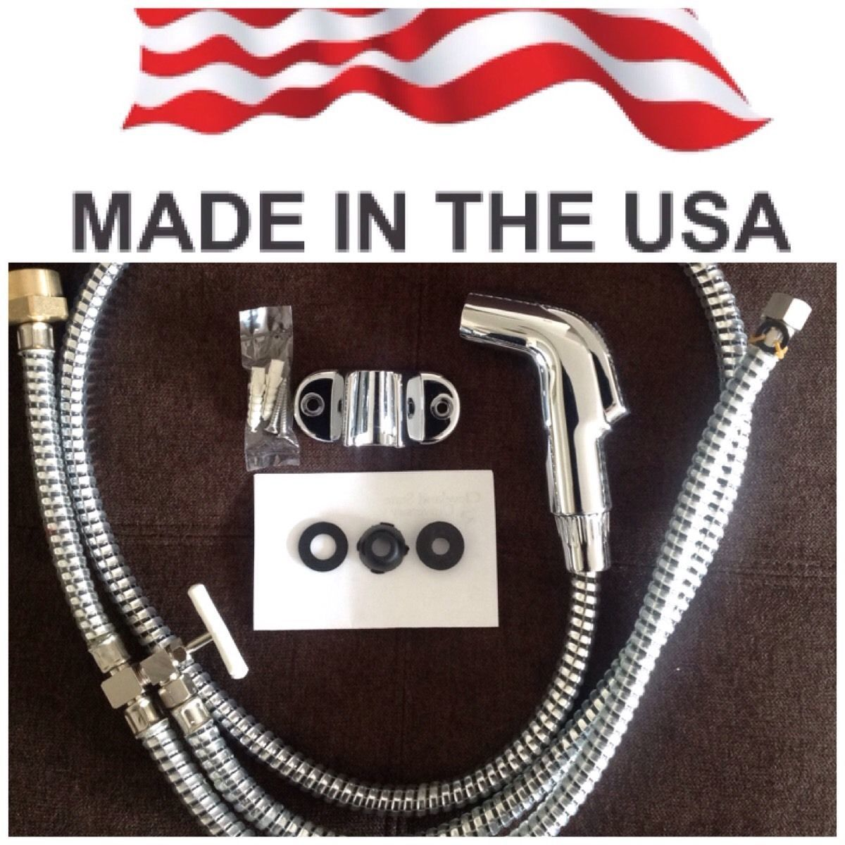 Chrome Diaper sprayer/ Muslim Shower. MADE IN USA.FREE FAST SHIPPING !