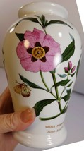 Vintage Portmeiron Vase Botanical Garden Pink Flowers Butterflies China ... - $8.59