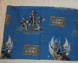 Star Wars The Clone Wars Twin Flat Sheet Storm Troppers Jedi Franco - $8.79