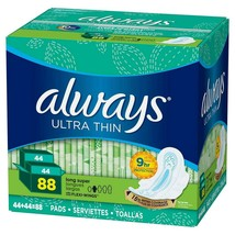 Always Ultra Thin Long and Super Pads with Flexi-Wings Multipack - 88 Count - $18.69