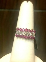 10K Ruby and Marcasite Ring - $122.50
