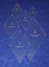 """60 Degree Diamond 7 Pc Set-2 through 8. -Acrylic 1/8"""" w/guideline holes ... - $35.95"""