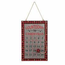Christmas Countdown Advent Calendar Chalkboard Wall Hanging Sign TkLinkin17 - $108.90