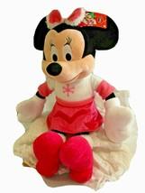 "Disney Minnie Mouse Large 22"" Plush Stuffed Toy Pink Winter snowflake 2013 New - $15.83"