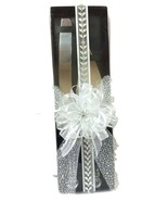 Wedding Cake Knife and Sever Set Inside Decorated Gift Box - $34.97