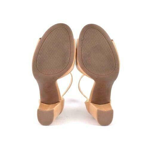 Jessica Simpson Tan Leather High Heel Sandals Pumps Shoes Ankle Strap Size 8 M
