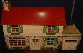 1950s Disney Marx Toy Tin Metal Doll House Donald Duck 2 Story Colonial Litho image 10