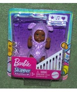 "Barbie Skipper BABYSITTERS INC AA Baby in Purple Lamb Costume 3""H New - $7.50"
