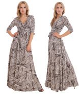 Long Summer Maxi Dress Day Evening Holiday Party Prom Wrap Design By MQ ... - $40.00