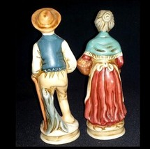 Man and Woman Figurines With baskets of Fruit  AB 747 Vintage image 2