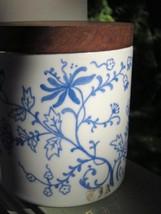 ALBA-KUNST ALBOTH & KAISER HAND PAINTED TEA CANISTER TEAK WOOD CORK LID ... - $9.49