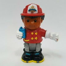 Fisher Price Little People Michael As Fireman Fire Fighter Bendable Poseable - $2.95