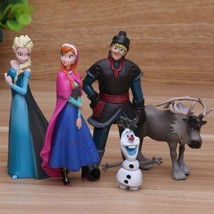 Disney Frozen Princess 5pcs/Lot 5-10cm Anna Elsa Action Figures Kristoff Sven - $15.99