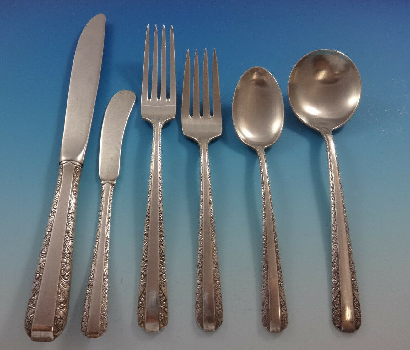 Primary image for Candlelight by Towle Sterling Silver Flatware Set For 12 Service 73 Pieces