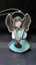 Stained Glass Angel Suncatcher Window Ornament Baseball Mom Sports Art Decor - $14.97