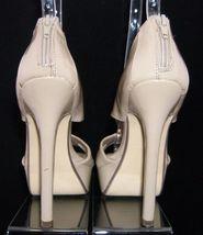 sandal platform heel patent toe taupe Forever 6 peep high pump rear 21 zip nv8O06