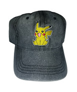 Pokemon Pikachu Black / Grey Combo Brand New Embroidered Wash Cap * Nint... - $11.88