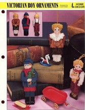 Christmas Victorian Boy V1 Ornaments Annie's Plastic Canvas Pattern Leaf... - $2.22