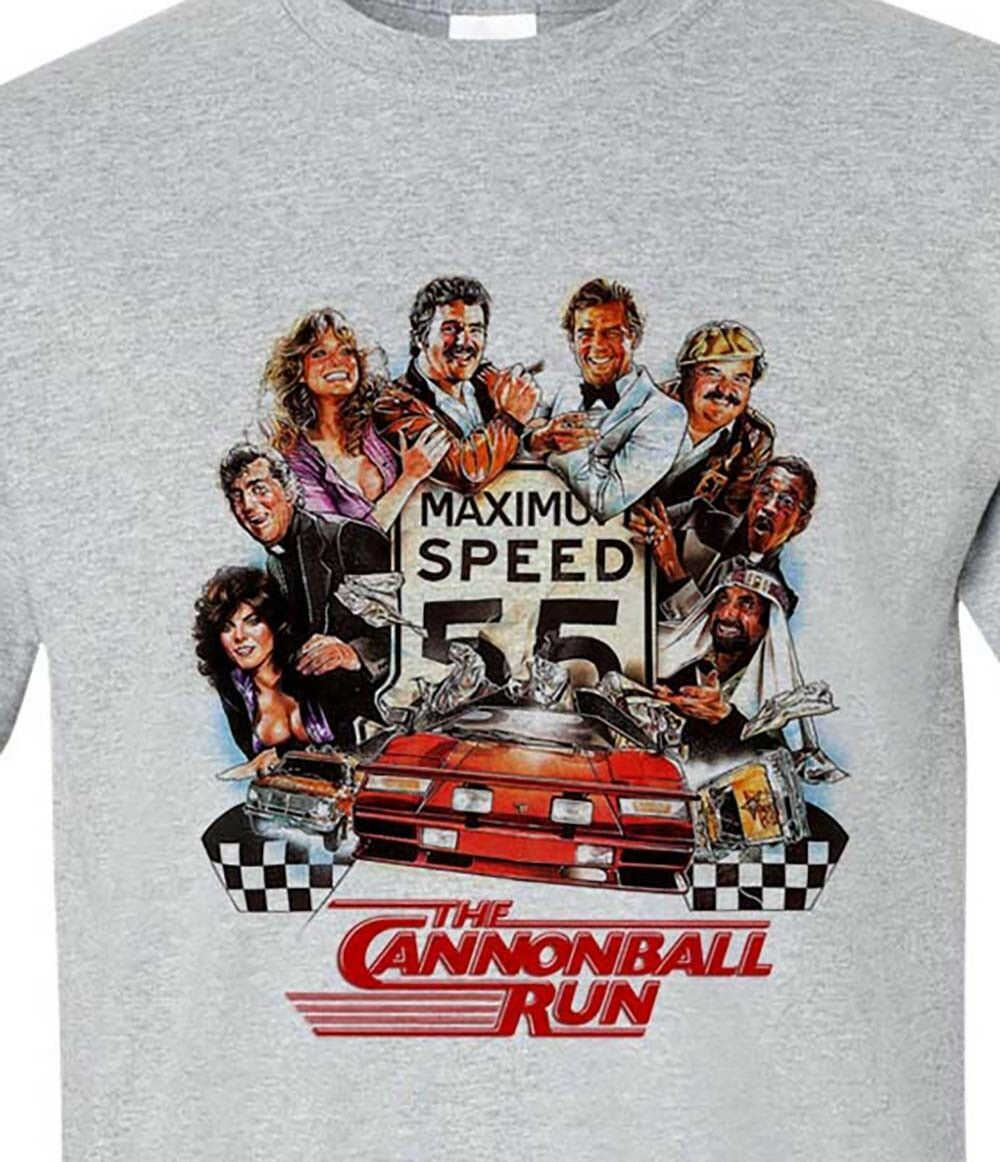 The Cannonball Run t shirt Burt Reynolds 1980s retro movie Smokey and the Bandit