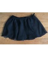 * Freestyle Danskin Solid Black ballet dance Tutu Skirt girl medium - $5.94