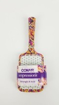 "Conair Impressions Mid-Size Cushion Hair Brush 10"" Floral Detangle & Sty... - $7.27"