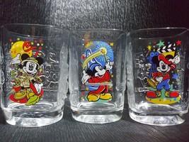 Mickey Mouse McDonalds Disney World Celebration 2000 drinking Glasses 12 oz squa - $14.99