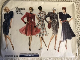 Vogue 2102 Vintage 80s Misses' Princess Dress Sewing Pattern Size 12~14~16 - $19.95