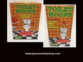 Toilet Hoops Basketball Pass Time Game Toy Gag Gift Ages 3+ image 1