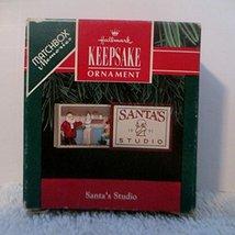 1991 Hallmark Matchbox Memories Keepsake Ornament 'Santa's Studio' (QX539-7) - $4.94