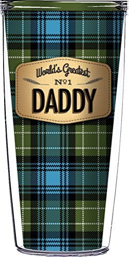 Daddy On Blue Flannel Traveler 16 Oz Tumbler Cup
