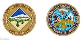 ARMY FORT CARSON THE MOUNTAIN POST CHALLENGE COIN - $16.24