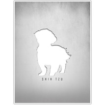 Shih Tzu Silhouette Wall Art Decor Poster - $15.35+