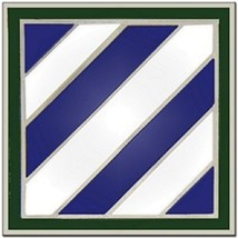 US Army 3rd Infantry Division Combat Service Badge 2 Inch - $14.84