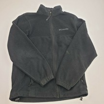 Columbia Men's Full Zip Fleece Jacket Size Small Black - $17.81