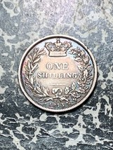1873 Great Britain 1 Shilling Lot#Z3994 Silver! Die#121 - $32.73