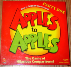 APPLES TO APPLES GAME 2007 MATTEL GAMES #N1384 COMPLETE WITH 8 PACKS SEA... - $20.00