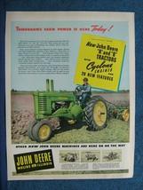 1947 John Deere Tractor Ad  John Deere Models A & B Featured.  Bright Colors - $8.06