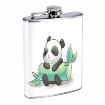 Chibi Panda Em1 Flask 8oz Stainless Steel Hip Drinking Whiskey - $13.81