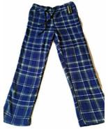 Men's  Blue Plaid Soft Fleece Lounge Pants - Size Medium - $12.00