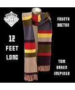 Authentic Licensed 4th DOCTOR WHO 12 FOOT GIANT KNIT SCARF Cosplay Tom B... - $42.72