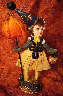 Vintage Inspired Spun Cotton Halloween Trick or Treater