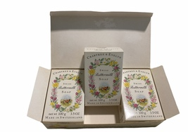 New in Box Crabtree and Evelyn Rare HTF Buttermilk Swiss Bar Soap 3 x 10... - $109.90